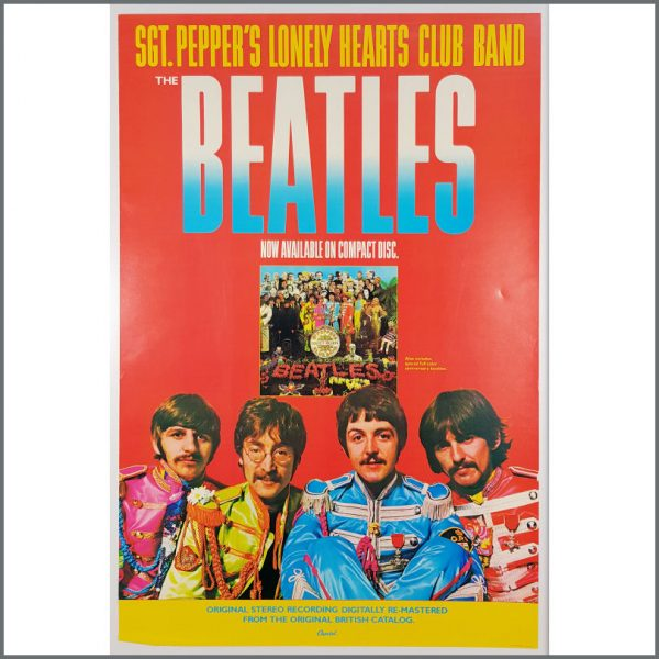 B26171 - The Beatles 1987 Sgt Pepper 20th Anniversary Promotional Poster (USA)