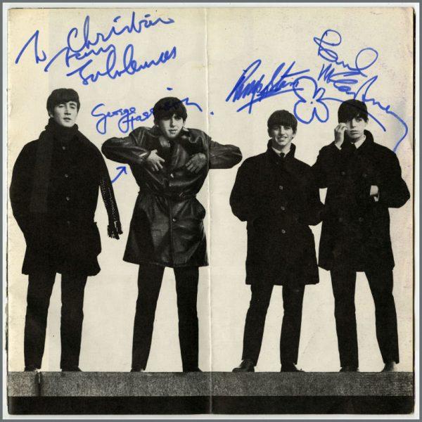 B26175 - The Beatles Ltd. Autographed Merchandising Magazine (France) - £OFFERS