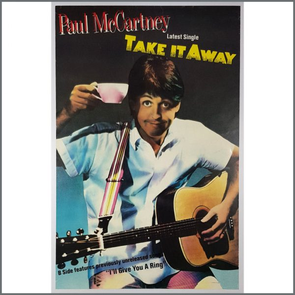 B26179 - Paul McCartney 1982 Take It Away Promotional Poster (UK)