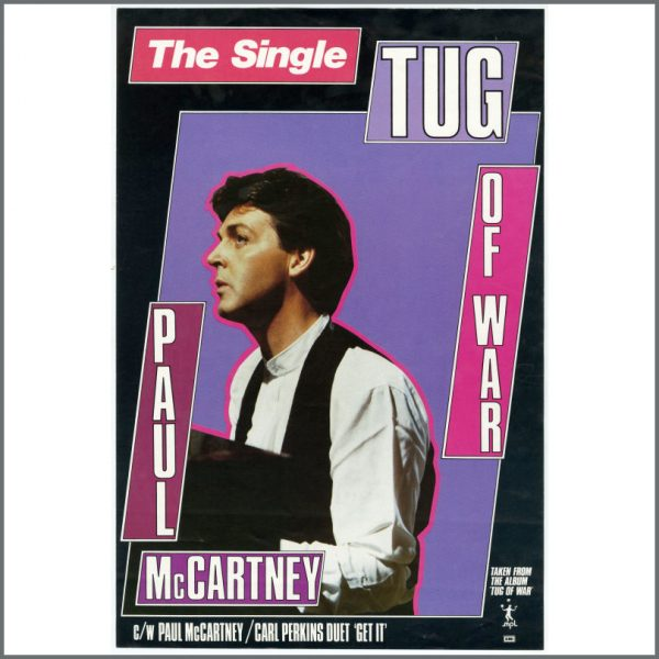 B26206 - Paul McCartney 1982 Tug Of War Promotional Poster (UK)