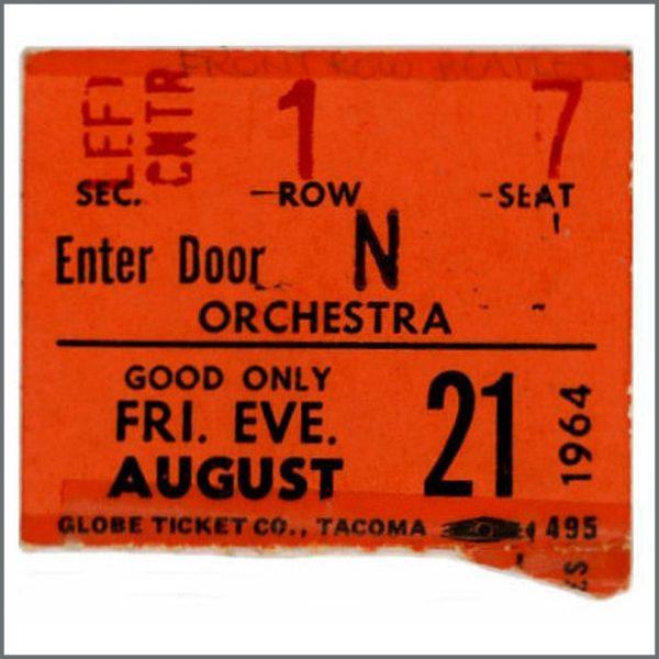 B26212 - The Beatles 1964 Seattle Ticket Stub (USA)