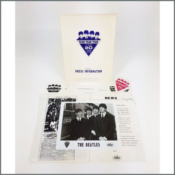 B26226 - The Beatles 1982 Yeah Yeah Yeah It Was 20 Years Ago Capitol Records Press Information Kit (USA)