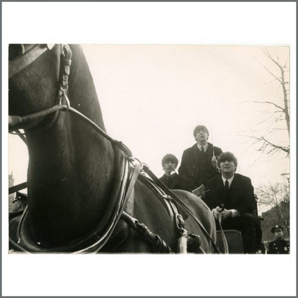 B26243 - The Beatles 1964 Vintage Central Park New York Photograph (USA)