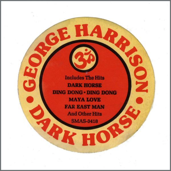 B26277 - George Harrison 1974 Dark Horse Promotional LP Sticker