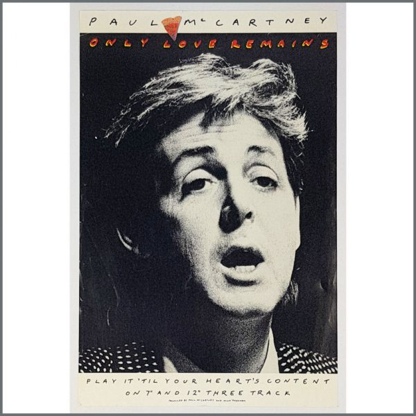 B26302 - Paul McCartney 1986 Only Love Remains Promotional Poster (UK)