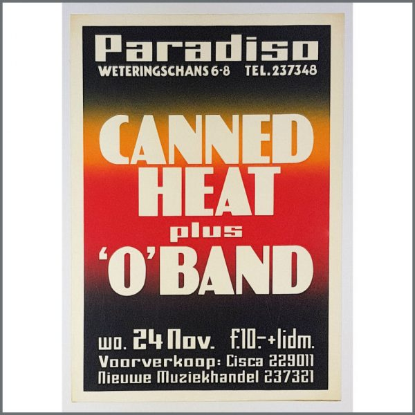 B26304 - Canned Heat 1976 Paradiso Amsterdam Concert Poster (Netherlands)