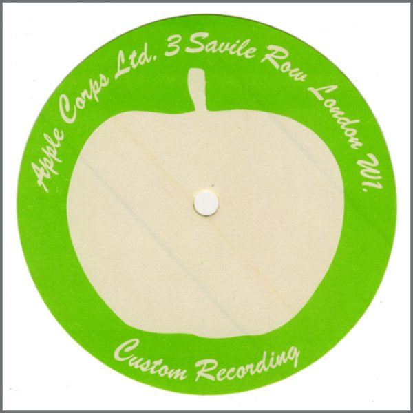 B26339 - Apple Corps Unused Custom Recording Label Sticker (UK)