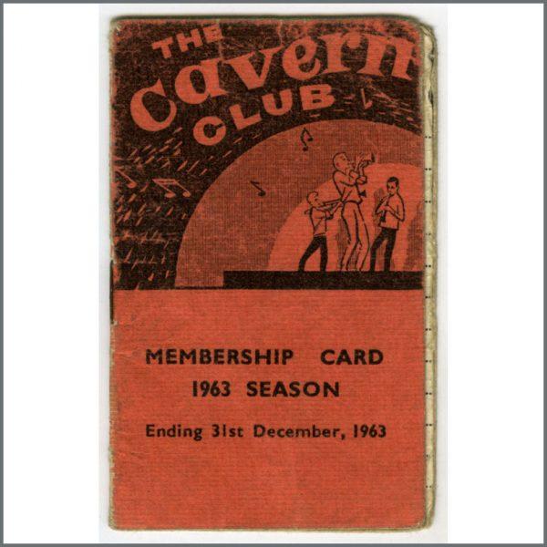 B26354 - The Beatles 1963 Cavern Club Membership Booklet (UK)