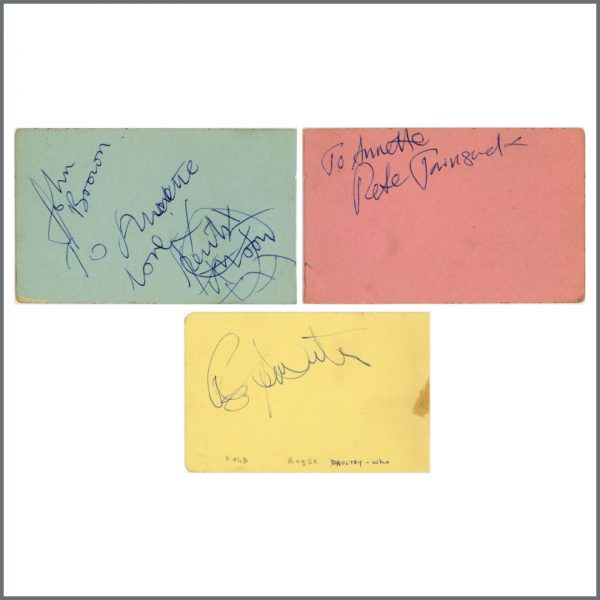 B26400 - The Who Autographs 1960s (UK)