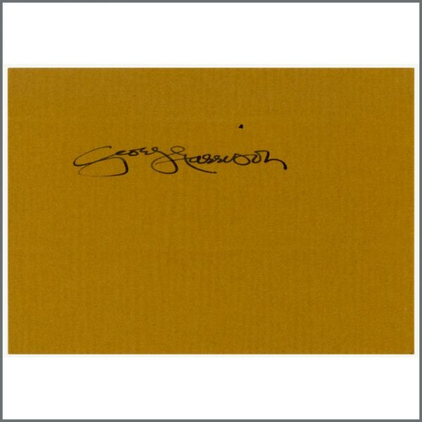 B26425 - George Harrison Early 1980s Autographed Piece Of Paper