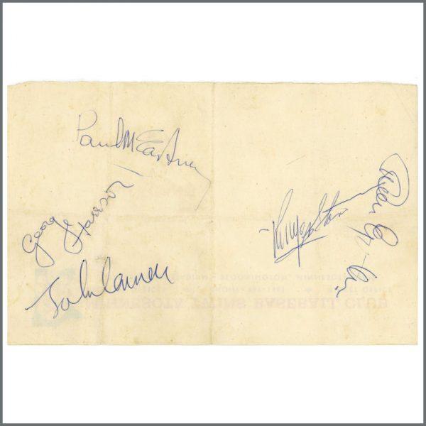 B26434 - The Beatles & Brian Epstein 1965 Autographed Minnesota Twins Letterhead (USA)