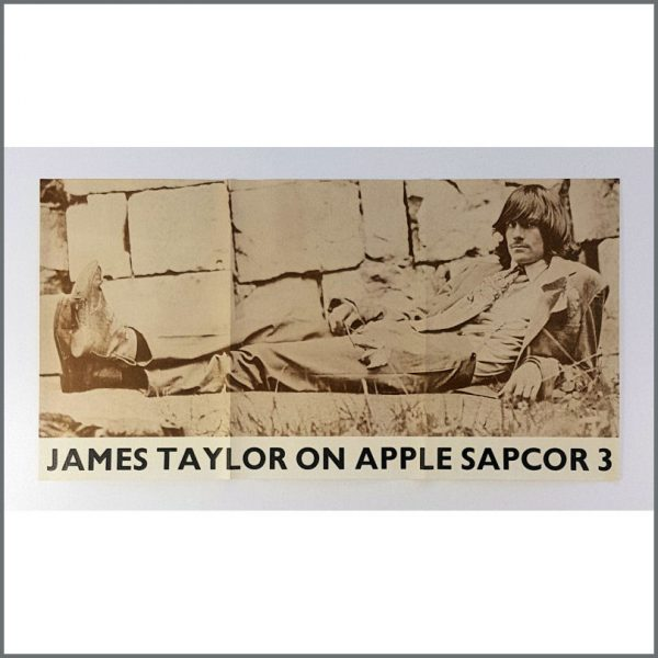 B26464 - James Taylor 1968 Apple Promotional Poster (UK)