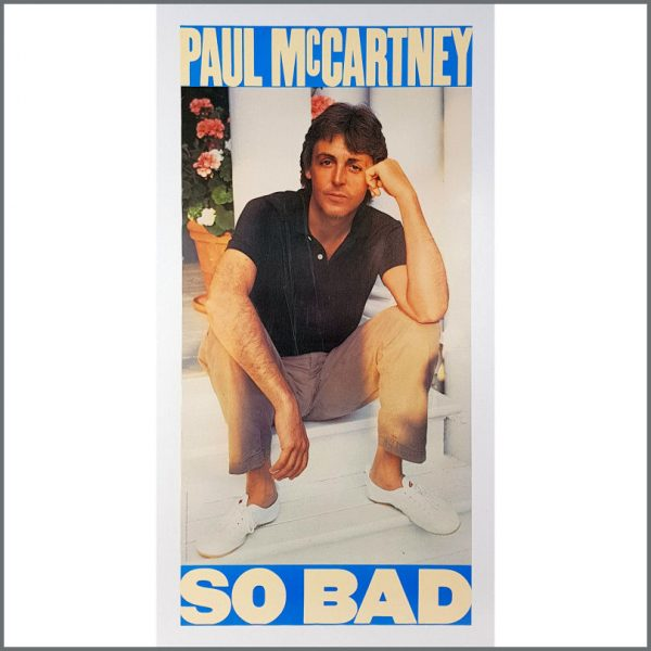 B26466 - Paul McCartney 1983 So Bad Promotional Poster (USA)