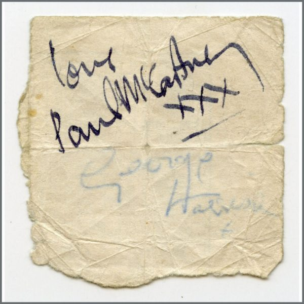 B26484 - Paul McCartney & George Harrison 1963 Cavern Club Membership Card Booklet Autographs (UK)