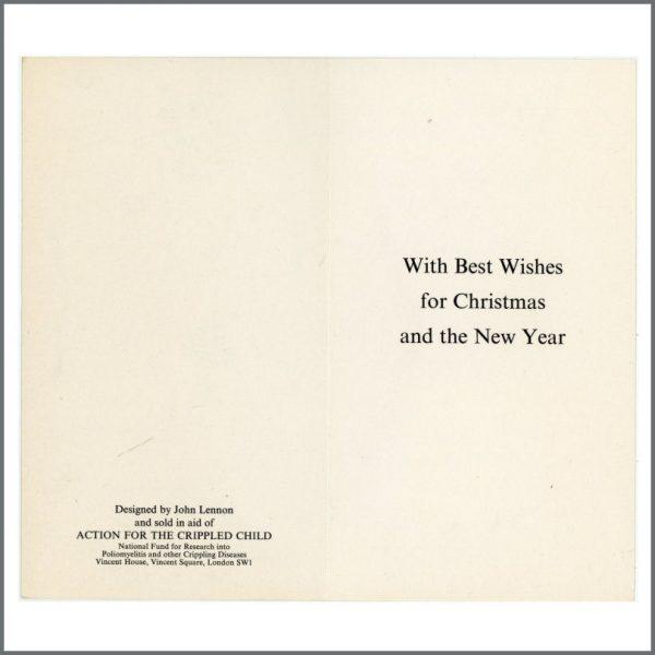 B26500 – John Lennon Designed Action For Crippled Children 1960s Christmas Card (UK) 2