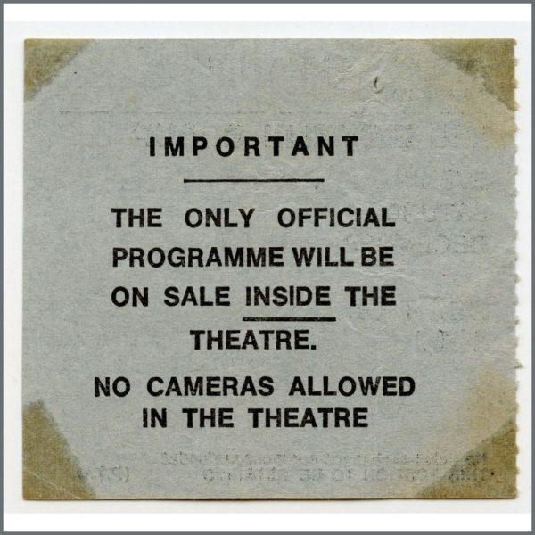 B26522 – Led Zeppelin 1972 Birmingham Odeon Concert Ticket Stub (UK) 2
