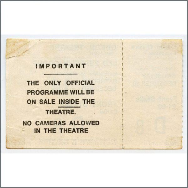 HIDDEN PAUL JAN 2018 B26523 – Led Zeppelin 1972 Birmingham Odeon Unused Concert Ticket (UK) 2