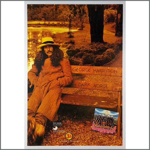 B26525 - George Harrison 1974 Dark Horse Promotional Poster (UK)