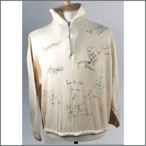 B26545 - The Beatles 1965 Help! Signed Leo McKern Owned Sweatshirt
