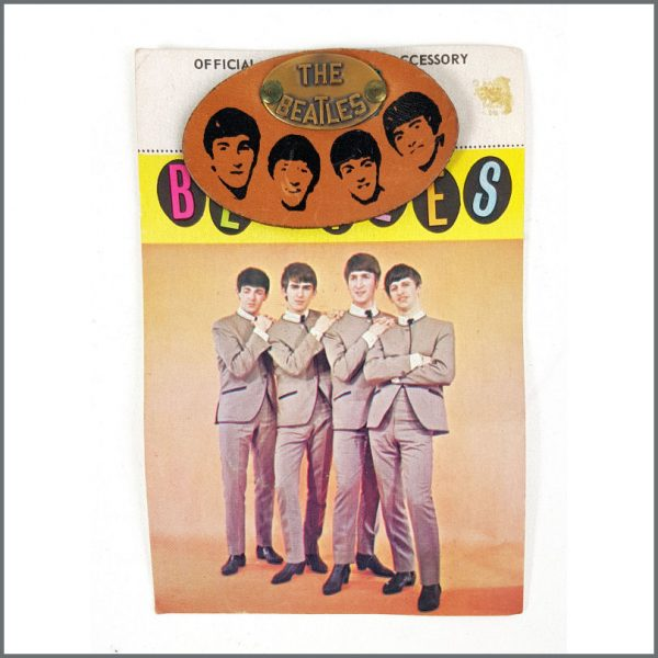 B26560 - The Beatles 1960s Leather + Brass Pin Badge (USA)