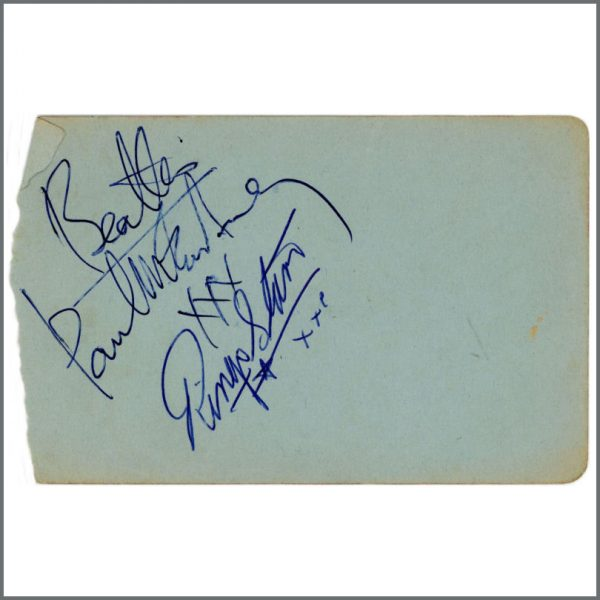B26570 - Paul McCartney & Ringo Starr Autographs (UK)