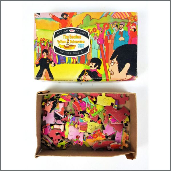 B26637 - The Beatles 1968 Yellow Submarine Nothing Is Real Pocket Jigsaw Puzzle (USA)
