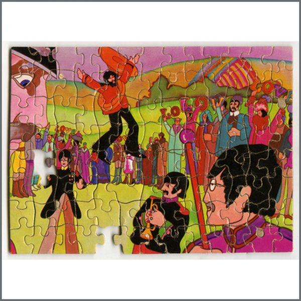 B26637 – The Beatles 1968 Yellow Submarine Nothing Is Real Pocket Jigsaw Puzzle (USA) 2