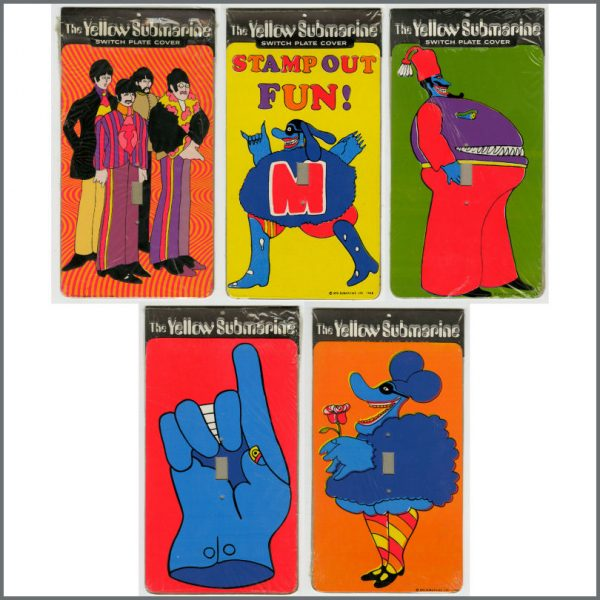 B26642 - The Beatles 1968 Yellow Submarine Switchplate Covers (USA)