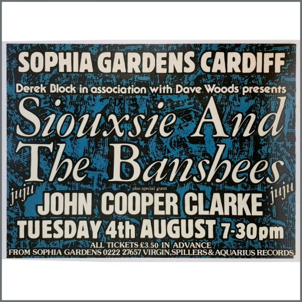 B26657 - Siouxsie And The Banshees 1981 Cardiff Concert Poster (UK)