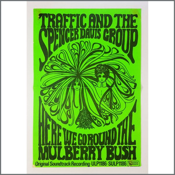 B26658 - Traffic / Spencer Davis Group 1968 Here We Go Round The Mulberry Bush Soundtrack Promotional Poster (UK)