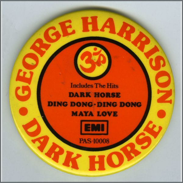 B26693 - George Harrison 1974 Dark Horse EMI Promotional Pin Badge (UK)