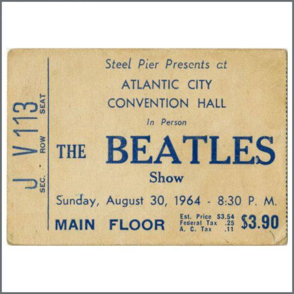 B26709 - The Beatles 1964 Atlantic City Ticket Stub (USA)