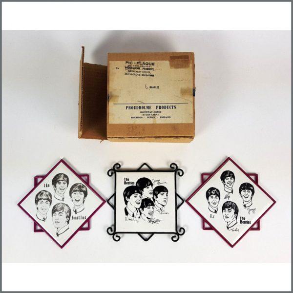 B26749 - The Beatles 1963 Pic-Plaque Proudholme Products Tiles (UK)