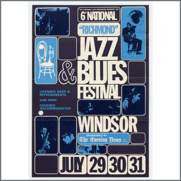 B26776 – The Who / Cream 1966 Marquee Club 6th National Jazz & Blues Festival Handbill (UK) 1