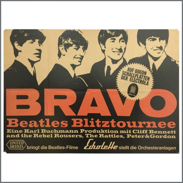 B26822 - The Beatles 1966 Bravo Blitztournee Tour Concert Poster (Germany)