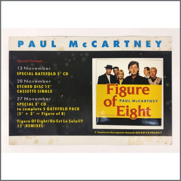 B26835 - Paul McCartney 1989 Figure Of Eight Shop Display (UK)
