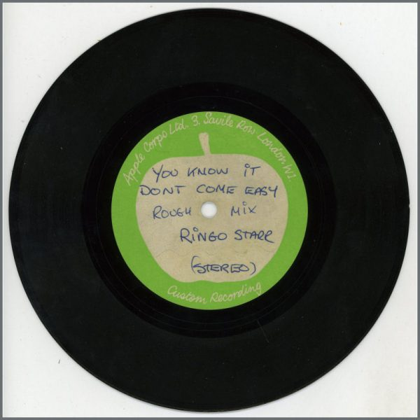 B26847 - Ringo Starr & George Harrison – 1971 Stereo You Know It Don't Come Easy Rough Mix Apple Acetate George Harrison Vocals (UK)