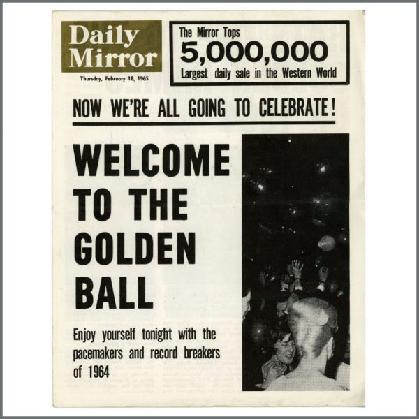 B26880 - The Beatles 1965 Golden Ball Programme Autographed by Paul McCartney & George Harrison (UK)