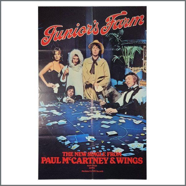 B26912 - Paul McCartney & Wings 1974 Junior's Farm Promotional Poster (UK)
