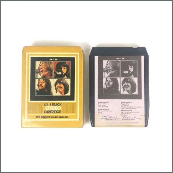 B26921 - George Martin Autographed The Beatles 1970 Let It Be 8 Track Cartridge (UK)