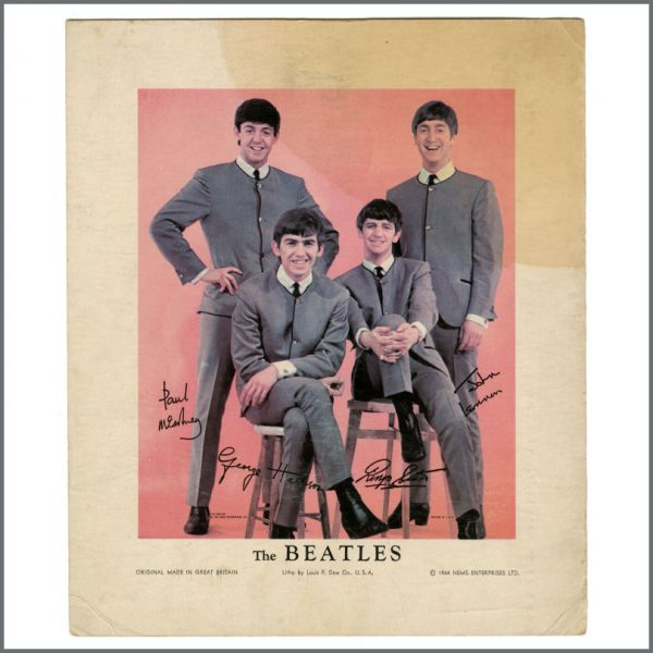 B26926 - The Beatles 1964 Louis F Dow Vintage Reproduction Lithograph Card (USA)