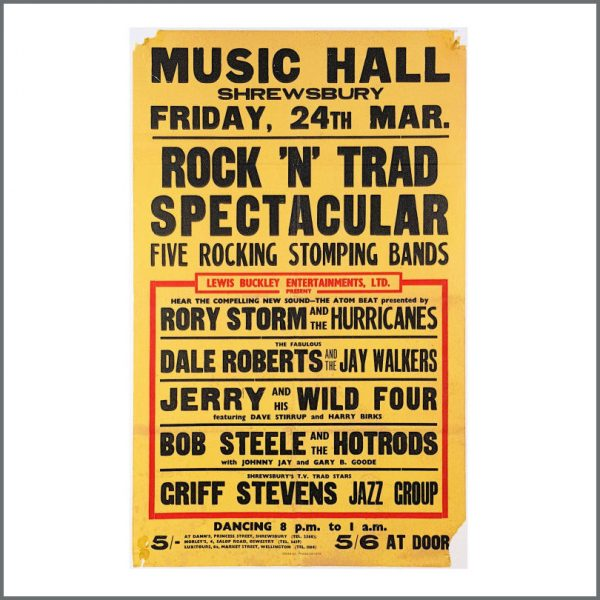 B26954 - Ringo Starr 1961 Rory Storm & The Hurricanes Shrewsbury Rock 'n Trad Spectacular Concert Poster (UK)