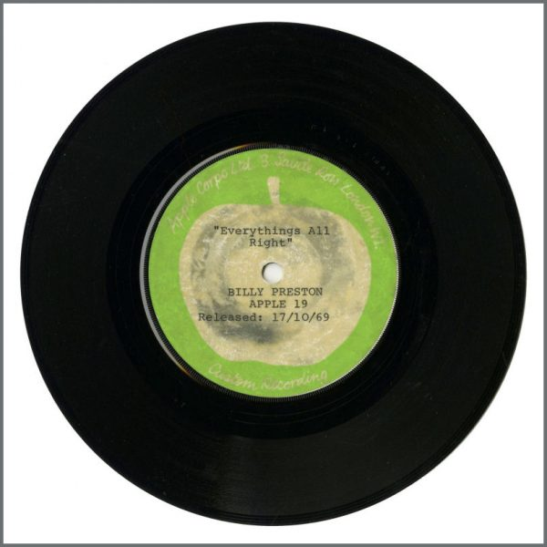 B26963 - Billy Preston – Everything's All Right/I Want To Thank You 1969 Apple Test Pressing (UK)