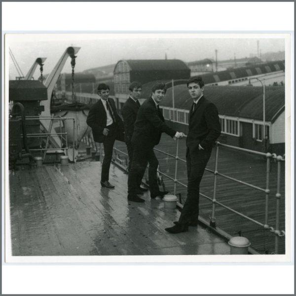 B26995 - The Beatles 1962 Liverpool Docks Photograph (UK)