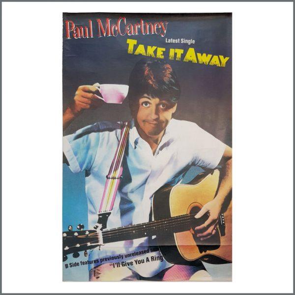 B27006 - Paul McCartney 1982 Take It Away Promotional Poster (UK)