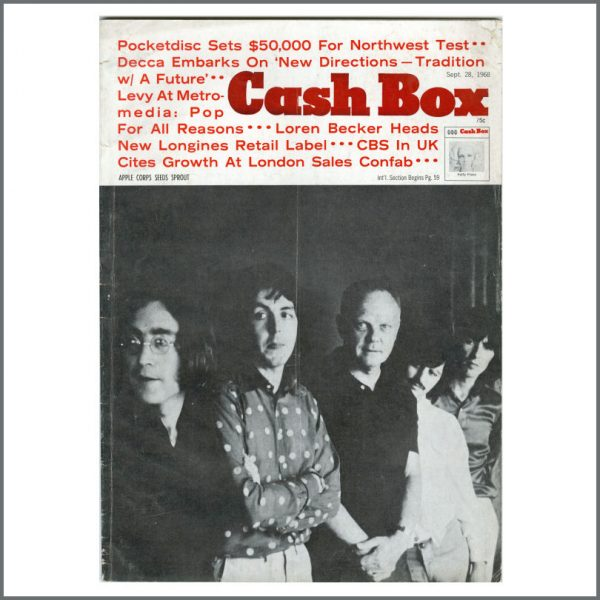 B27027 - The Beatles 1969 Cash Box Magazine (USA)