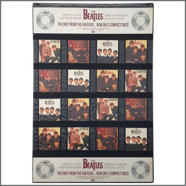 B27031 - The Beatles 1988 CD Singles Collection EMI Promotional Shop Display (UK)