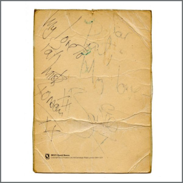 B27037 - David Bowie & Mick Ronson 1972 Torquay Ziggy Stardust Autographs (UK)