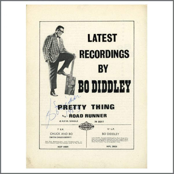 B27043 - Bo Diddley 1963 Autographed Programme Page (UK)