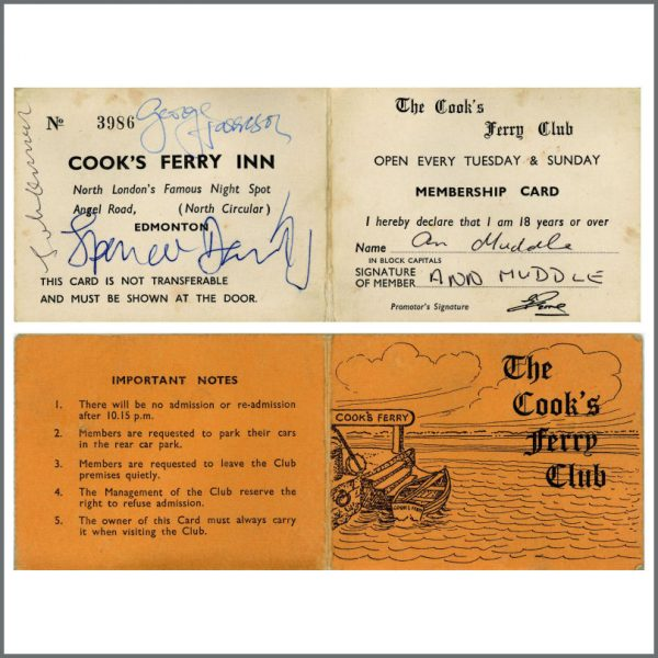 B27045 - John Lennon, George Harrison, Spencer Davis December 1967 Magical Mystery Tour Private Screening Autographs (UK)